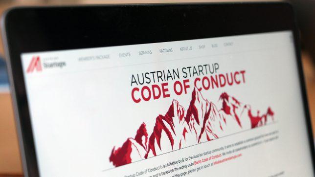 Webseite des Code of Conduct der österreichischen Startup-Szene. © Jakob Steinschaden
