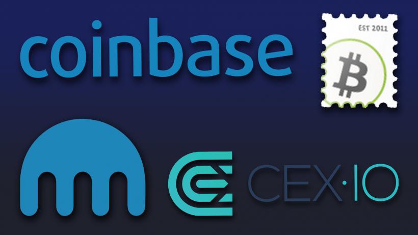 © Coinbase, Kraken, Bitstamp, Cex.io/Montage Trending Topics