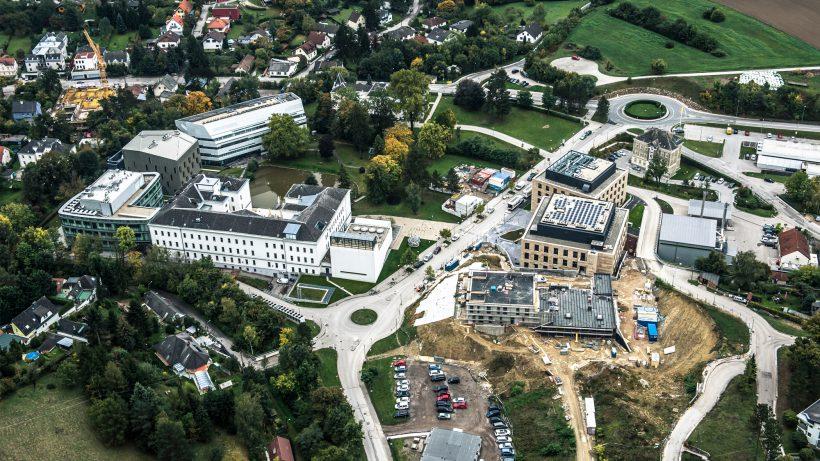Das IST Austria baut derzeit ein neues Gebäude. © IST Austria