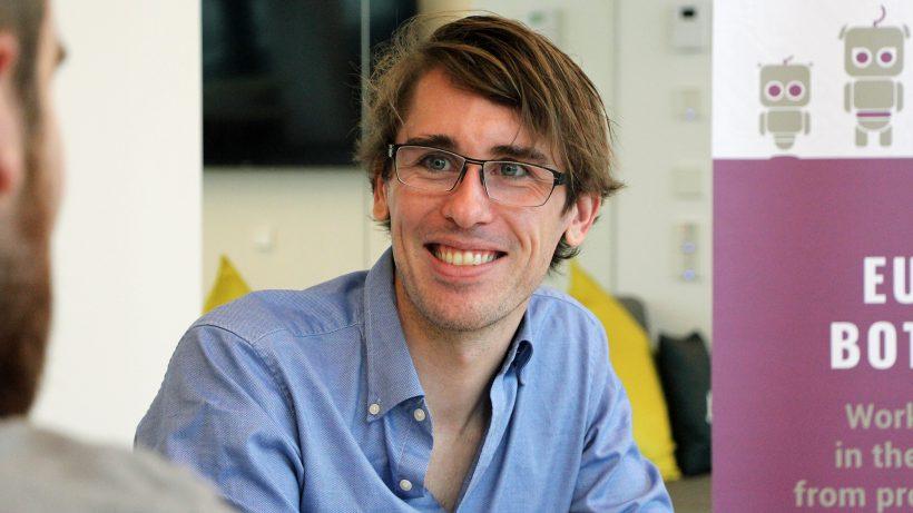 Poncho-Mitgründer Greg Leuch im Gespräch. © Jakob Steinschaden
