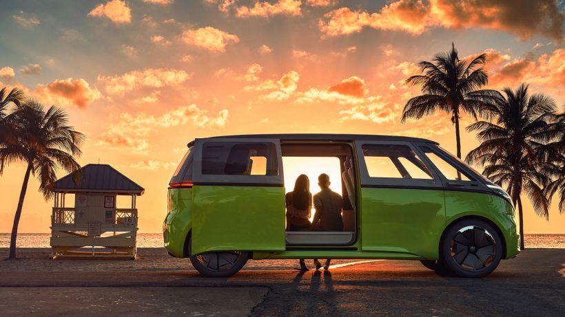Der VW I.D. Buzz soll bis zu 600 km Reichweite haben. © VW