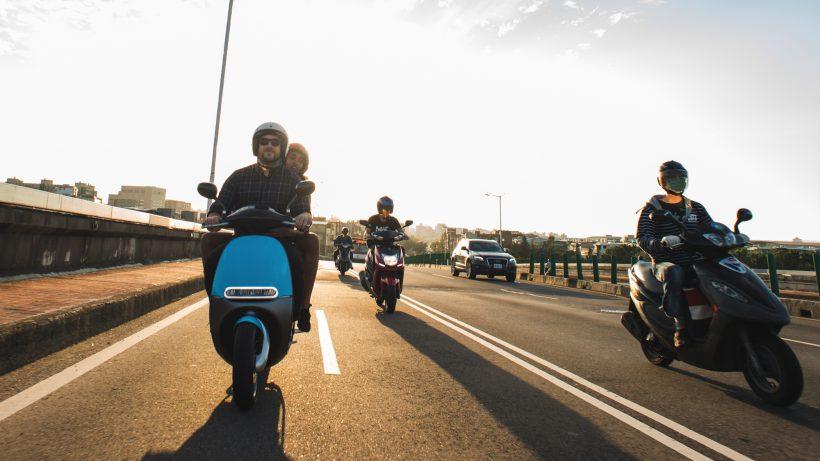 Gogoro-Roller auf der Straße. © Gogoro