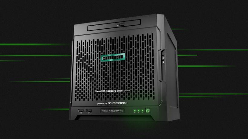 Minebox baut auf Hardware von HP Enterprise. © Minebox