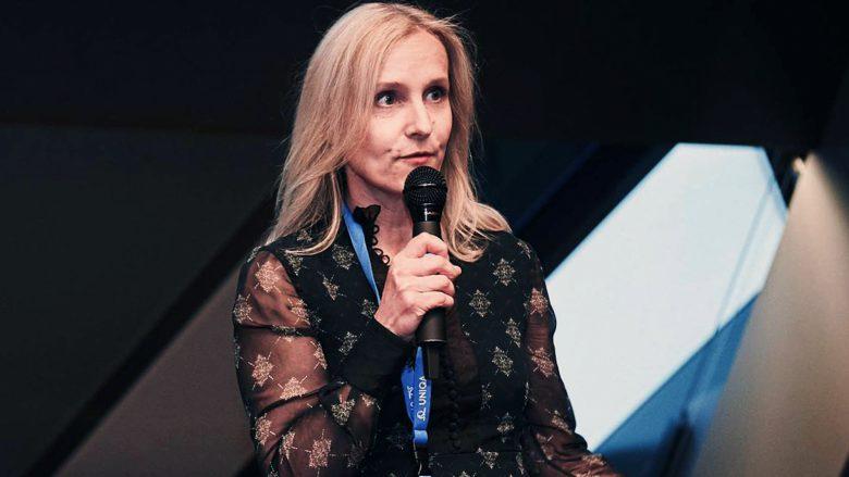 Eveline Steinberger-Kern auf einer Start-up-Veranstaltung. © Female Founders/Ursula Schmitz
