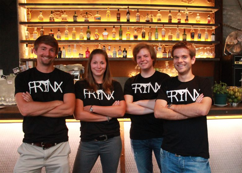 Das Frynx-Team: Christian Strobl (Co-Founder), Lisa Krapinger (Head of Business Development), Aaron Wedral (CTO), Peter Mühlbauer (Co-Founder). © Frynx