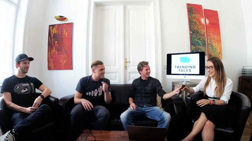 David Pichsenmeister (oratio), Max Unger (The Ventury), Jakob Steinschaden (Trending Topics) and Natalie Korotaeva (craftworks). © Trending Topics