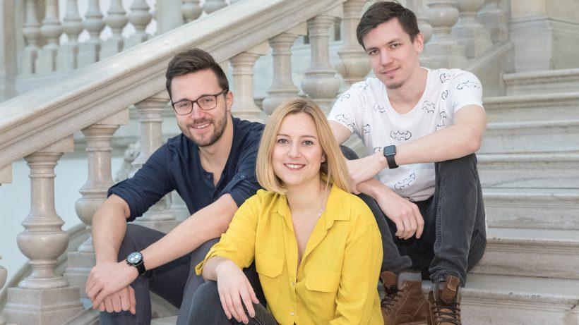 Das UNIspotter-Trio Christoph Trost, Verena Mai und Roger Kerse. © UNIspotter
