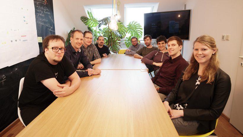 Das Wegfinder-Team im Büro in Wien. © Wegfinder