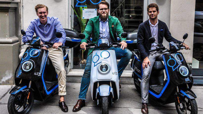 Die goUrban-Gründer Jonathan Gleixner, Michael Lenz, Bojan Jukic. © goUrban