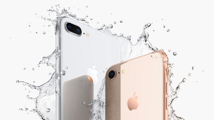 Das iPhone 8 ist spritzwasserfest. © Apple