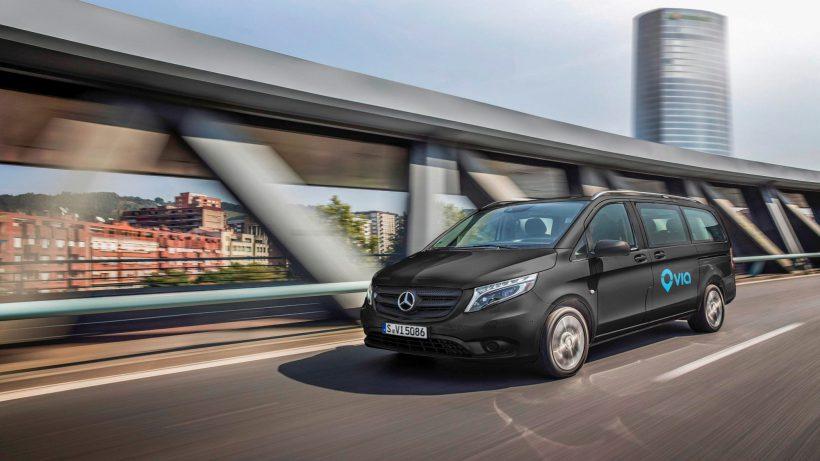 Mercedes Vans kooperiert mit US-Startup Via. © Daimler-Benz
