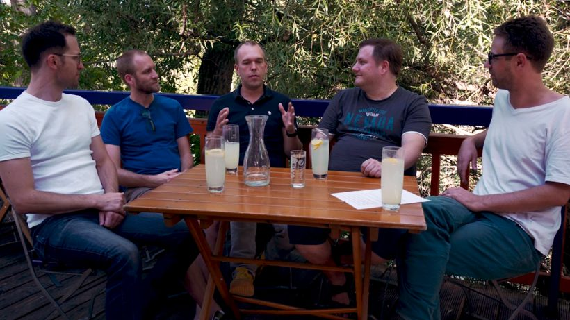 mySugr-founder: Gerald Stangl, Fredrik Debong, Frank Westermann and Michael Forisch © Trending Topics