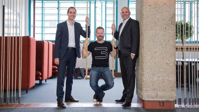 Markus Arzt (Brandl & Talos), Bernhard Lehner (startup300) und Roman Rericha (Brandl & Talos). © Roland Pelzl/factory300