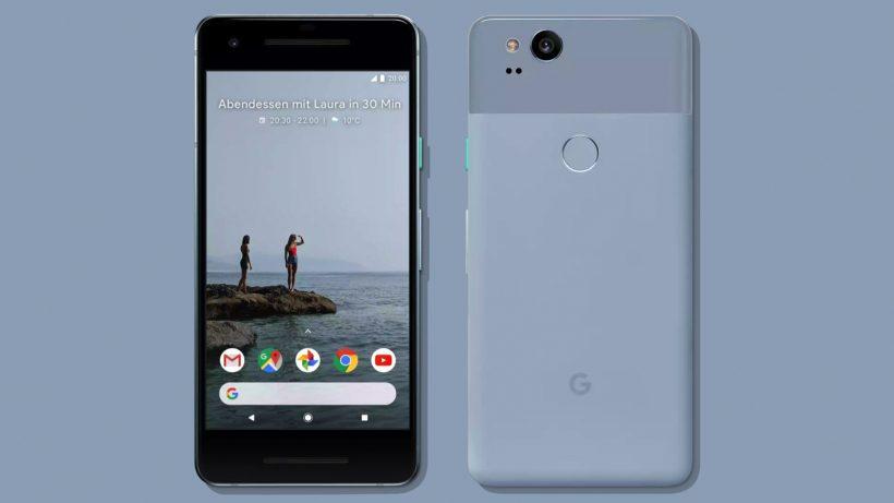 Das Google Pixel 2 in Blau. © Google