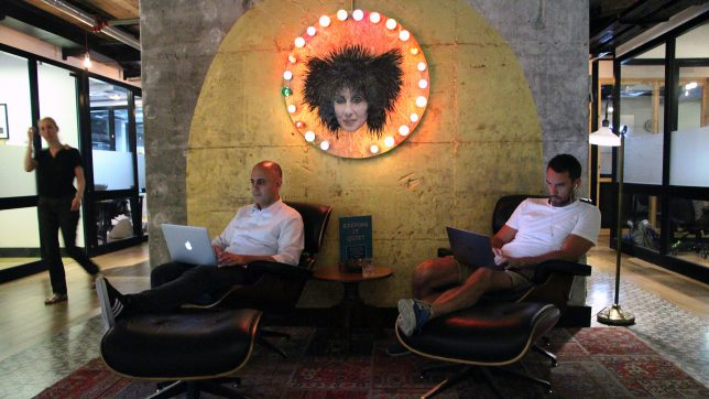Im Coworking Space Mindspace in Tel Aviv. © Jakob Steinschaden