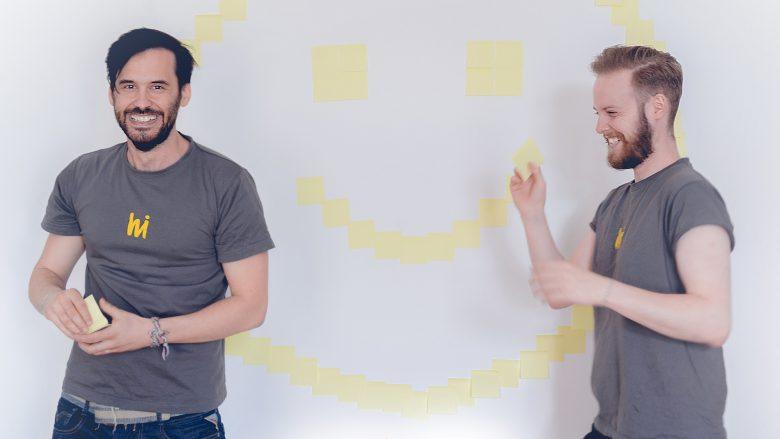 Die beiden hiMoment-Gründer Christoph Schnedlitz und Jan Hrubý. © hiMoment