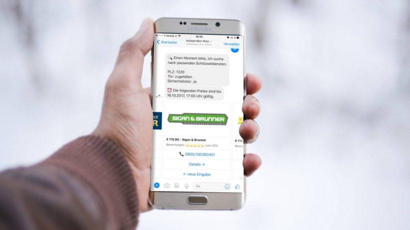 Der AufsperrBot funktioniert mit Facebook Messenger. © leichtgemacht.at