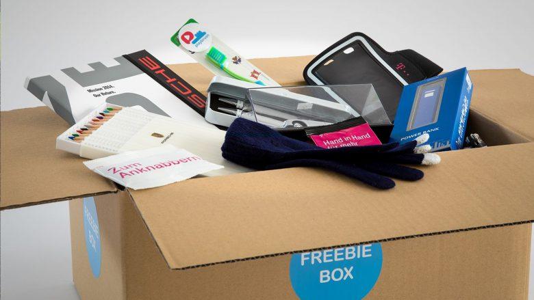 Die Freebiebox mit Inhalt. © Freebiebox