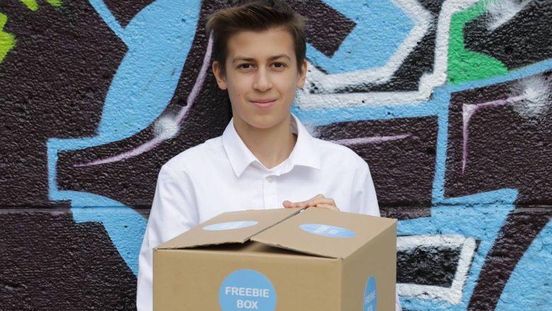 Moritz Lechner, Erfinder der Freebiebox. © Freebiebox
