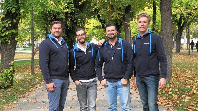 Günther Strenn (CEO), Martin Pauer (CDO), Gregor Weihs (COO) und Klaus Furtmüller (CTO) von JobRocker. © JobRocker