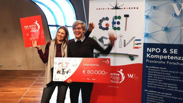 discovering hands - die Gewinner des Get Active Social Business Award 2017. © Get Active Social Business Award