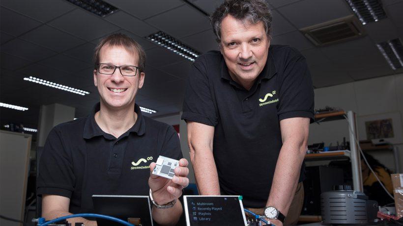 Markus Rutz (CTO) und Frits Wittgrefe (CEO) von StreamUnlimited. © Sebastian Philipp