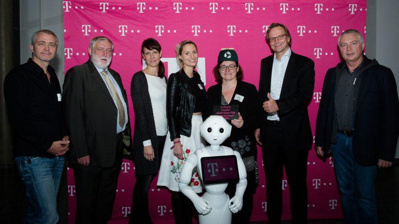 """Das Projekt """"Mobil Gutes TUN für Obdachlose"""" bei der Preisvergabe. © T-Mobile Austria"""