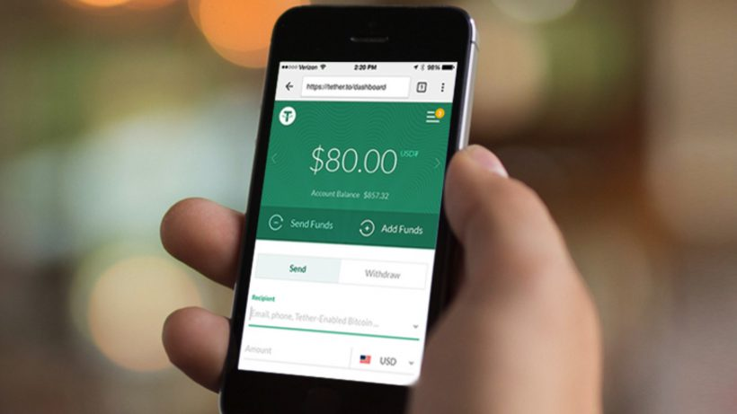 Tether Wallet am Smartphone. © Tether.to