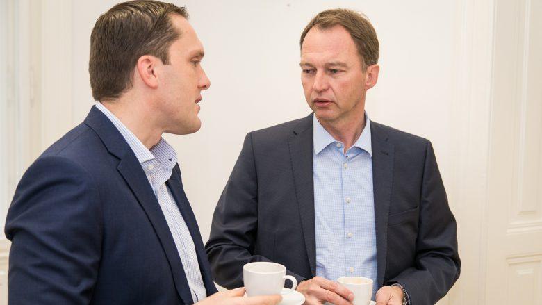 Thomas Schmutzer, President Next Generation Enterprise Forschungsinstitut, und Josef Grandits, Managing Director GTW Management Consulting. © Tamás Künsztler