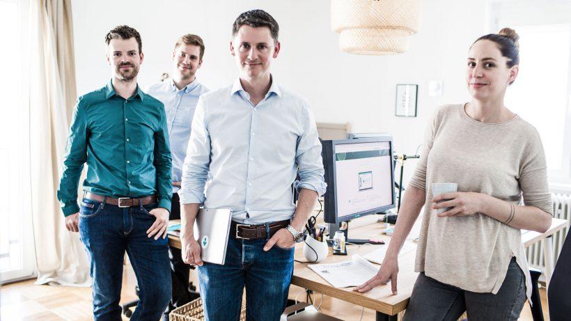 Das myVeeta-Team rund um Geschäftsführer Jan Pichler. © Microsoft / Patrick Domingo