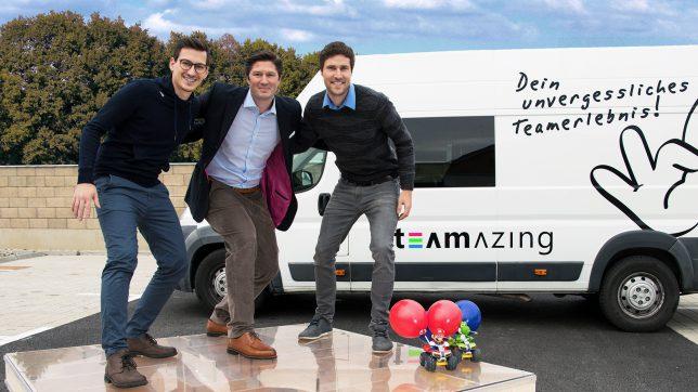 Paul Stanzenberger, Maximilian Seidel, Andreas Mairold (v.l.n.r.). ª Teamazing
