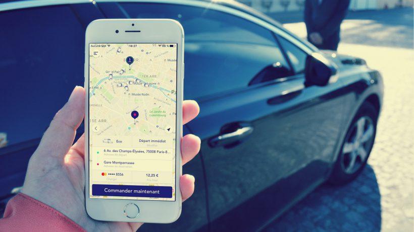 Die App von Chauffeur Prive. © Chauffeur Prive