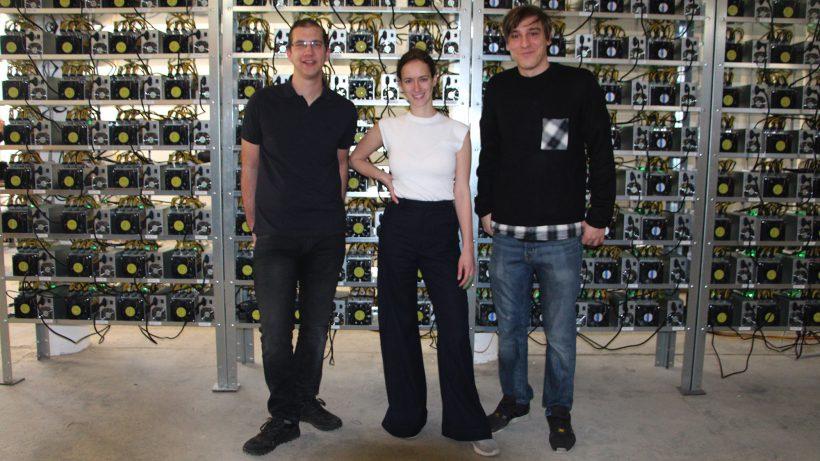 Christian Vogl, Nadine Damblon und Sebastian Kastner von HydroMiner. © Jakob Steinschaden
