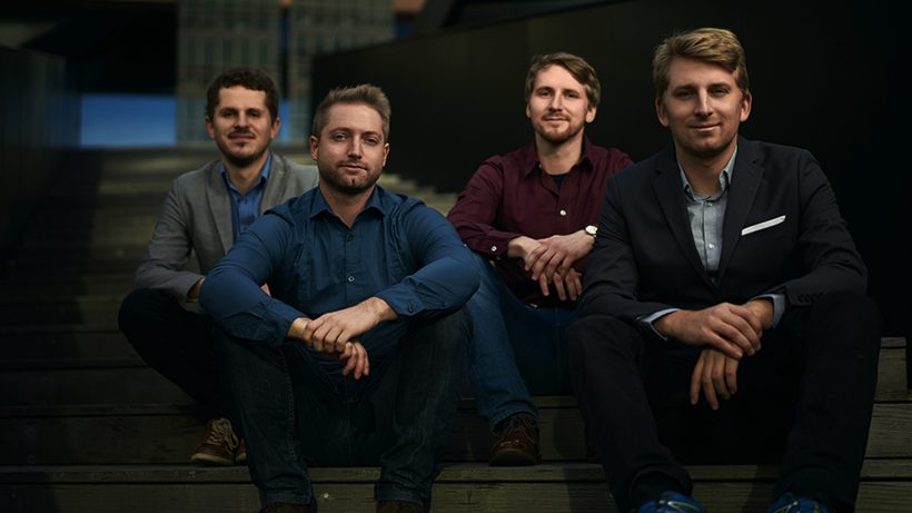 Die Gründer von guh: Simon Stürz, Simon Hönegger, Lukas Mayerhofer und Bernhard Trinnes. © guh GmbH