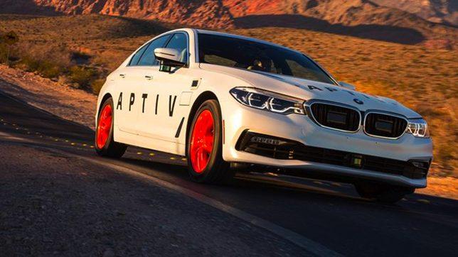 Selbstfahrender BMW mit Aptiv-Technologie. © Aptiv