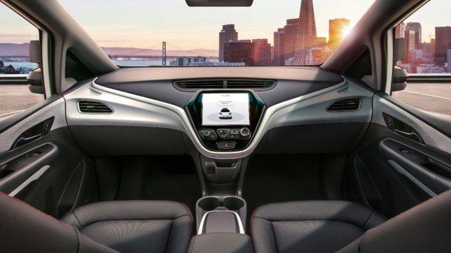 """Innenansicht des Konzeptautos """"Cruise AV"""". © General Motors"""