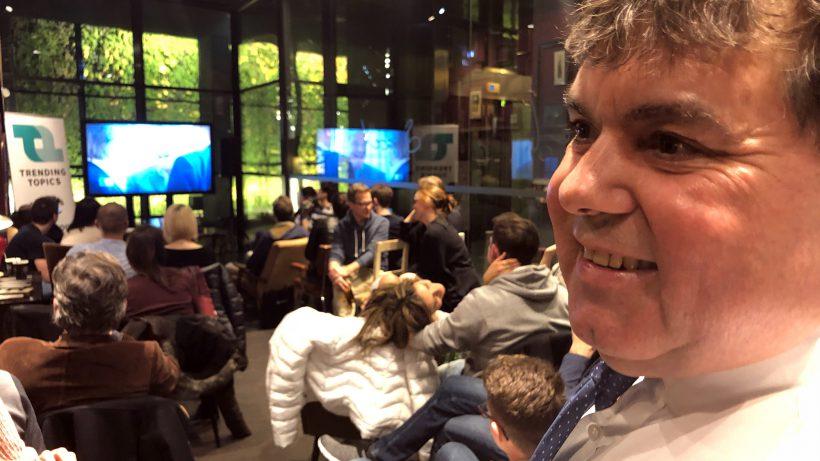 Heinrich Prokop beim Public Viewing. © Trending Topics