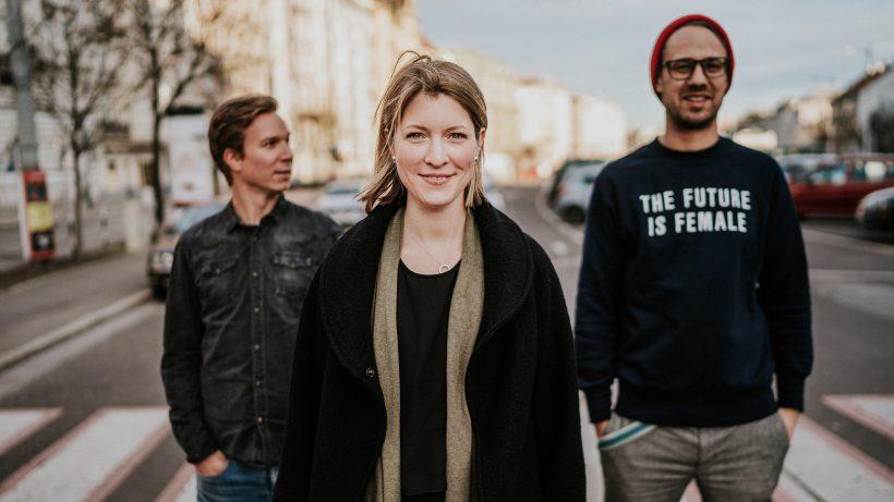 Jakob Steinschaden, Sara Grasel und Bastian Kellhofer von Trending Topics. © Raffael Stiborek