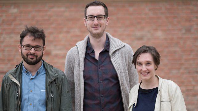 Das tubics-Team: Matthias Funk, Matthias Posch und Claudia Eder. © tubics/Johannes Herrnegger