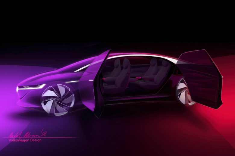 Mock-up des VW I.D. Vizzion. © Volkswagen AG