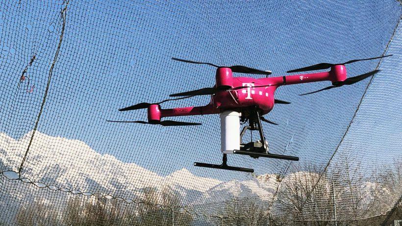 Europa-Premiere: Per 5G gesteuerte Flugdrohne in Innsbruck. © Trending Topics