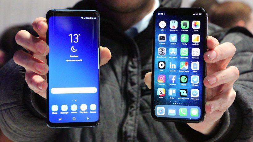 Galaxy S9 und iPhone X. © Jakob Steinschaden