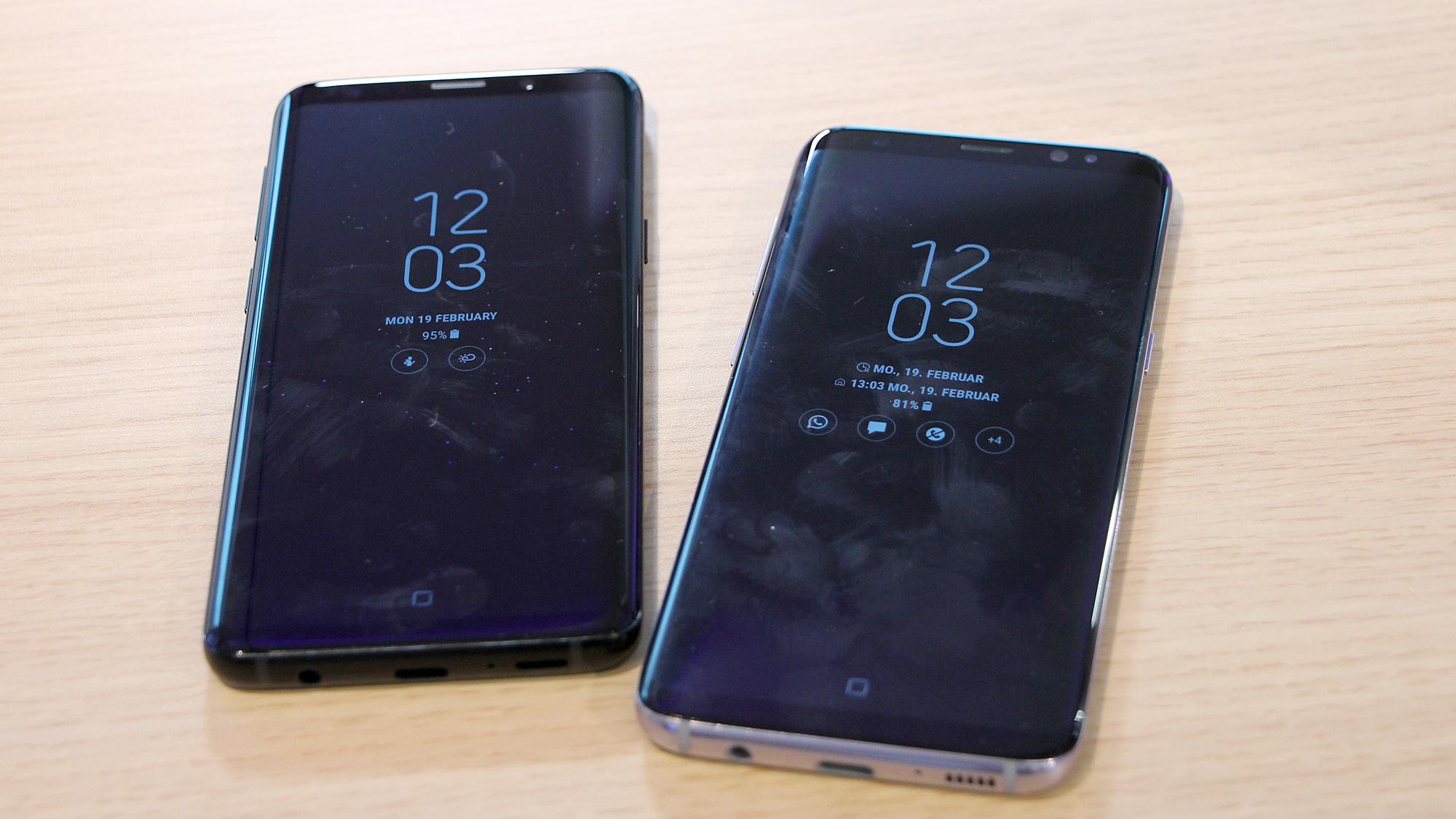 Das Samsung Galaxy S9 neben dem Samsung Galaxy S8. © Trending Topics
