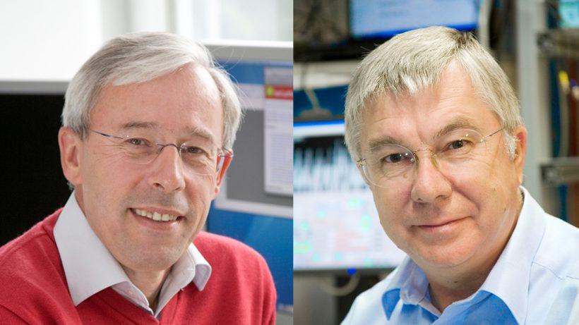 Die Alpine Quantum Technologies-Gründer Rainer Blatt und Peter Zoller. © C. Lackner