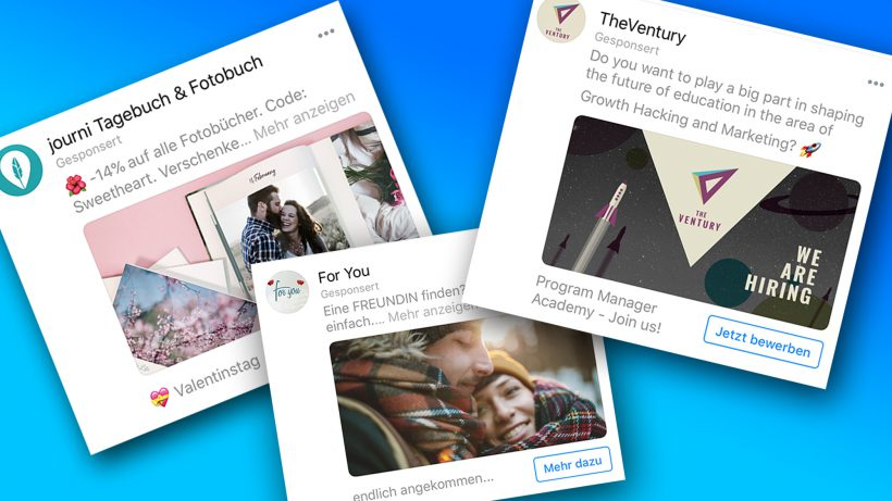 So sehen Ads im Messenger aus. © Messenger, Montage Trending Topics