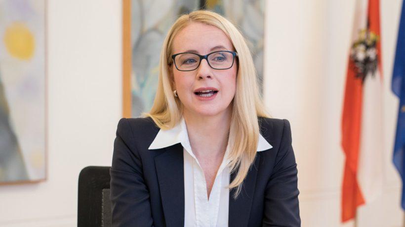 Margarete Schramböck, Ministerin für Digitales und Wirtschaftsstandort. © Christian Lendl