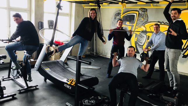 Das Domonda Team: Paul Horlacher (Operations & Customer Support), Clarissa Haas (Assistant to CEO), Denis Badurina (Senior Developer), Erik Unger (CTO), Stefan Spiegel (CFO) und Michael Haller (CEO). © Domonda