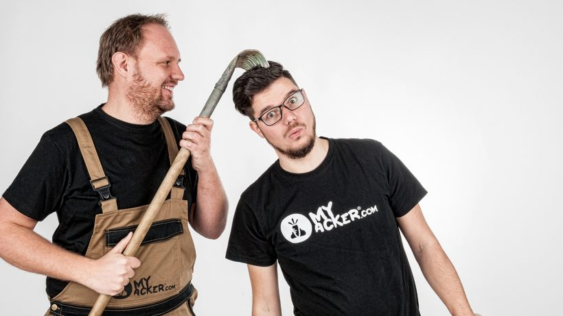 Die myAcker-Gründer. © myAcker