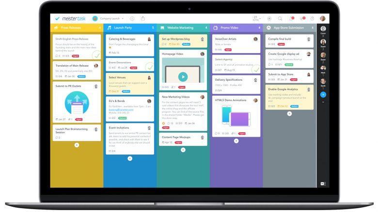 Die App MeisterTask am MacBook. © MeisterLabs
