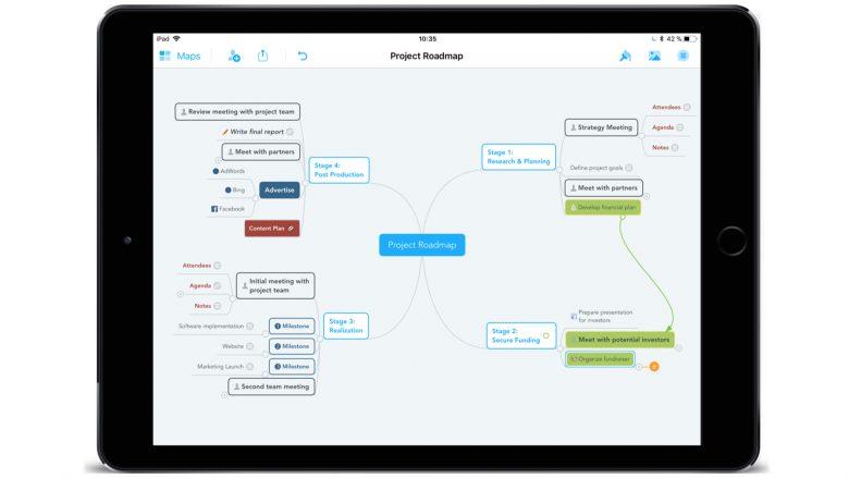 MindMeister am iPad. © MeisterLabs